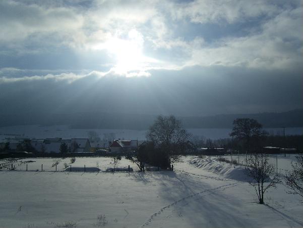 Ausblick vom Balkon - Winterimpression